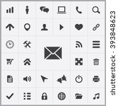 simple web icons set. universal ... | Shutterstock .eps vector #393848623