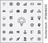 simple solution icons set.... | Shutterstock .eps vector #393848650