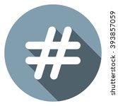 hashtags icon jpg | Shutterstock .eps vector #393857059