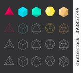 platonic solids  vector... | Shutterstock .eps vector #393857749