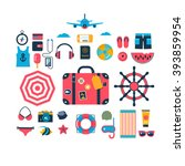 set of flat vector icons for... | Shutterstock .eps vector #393859954