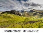mountains in highland scotland | Shutterstock . vector #393861019