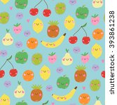 cute seamless pattern with... | Shutterstock .eps vector #393861238