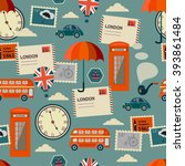 british seamless pattern with... | Shutterstock .eps vector #393861484