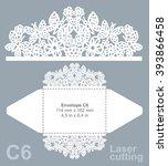 vector die cut envelope... | Shutterstock .eps vector #393866458
