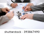 group of business people at the ... | Shutterstock . vector #393867490