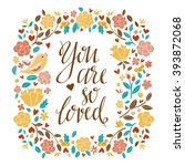 greeting valentines day card.... | Shutterstock . vector #393872068