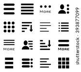 hamburger menu icons set. bar... | Shutterstock . vector #393877099