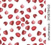 watercolor raspberry pattern 6   Shutterstock . vector #393878410