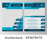 Vector flyer template design. For business brochure, leaflet or magazine cover.  Blue color