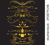 vignettes in gold. | Shutterstock .eps vector #393879148