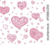 abstract seamless hearts... | Shutterstock .eps vector #393881350
