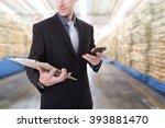 business man during communicate ... | Shutterstock . vector #393881470