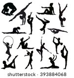 Set Of Gymnasts Vector...