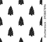 fir tree pattern. vector... | Shutterstock .eps vector #393887896