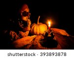 Skull And Candle With...