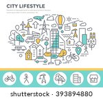 city lifestyle concept... | Shutterstock .eps vector #393894880
