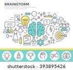 brainstorm  concept... | Shutterstock .eps vector #393895426