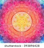 watercolor mandala. decor for... | Shutterstock . vector #393896428