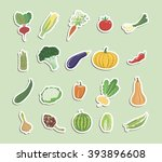 vegetables colored icons | Shutterstock .eps vector #393896608
