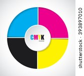 abstract cmyk background with... | Shutterstock .eps vector #393897010