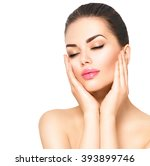 beauty portrait. beautiful spa... | Shutterstock . vector #393899746
