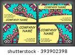 set of business card template ... | Shutterstock .eps vector #393902398