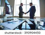 close up of workplace with... | Shutterstock . vector #393904450