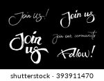 set of join us and our... | Shutterstock .eps vector #393911470