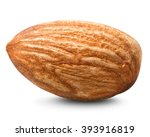 almonds nut isolated on white | Shutterstock . vector #393916819