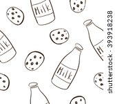 doodle seamless pattern with... | Shutterstock .eps vector #393918238
