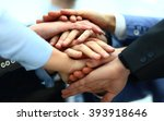 close up of business partners... | Shutterstock . vector #393918646