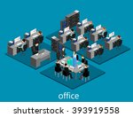 flat 3d isometric abstract... | Shutterstock .eps vector #393919558