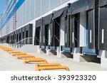 empty loading dock of large... | Shutterstock . vector #393923320