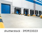 empty loading dock of large... | Shutterstock . vector #393923323