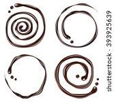 chocolate swirl  isolated on... | Shutterstock .eps vector #393925639