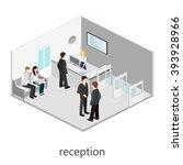 isometric interior of waiting... | Shutterstock .eps vector #393928966