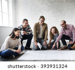 creative group working... | Shutterstock . vector #393931324