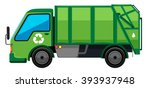garbage truck in green color...