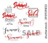 summer.summer design  summer... | Shutterstock .eps vector #393939853