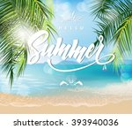 summer holidays vector... | Shutterstock .eps vector #393940036