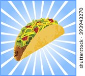 vector mexican tacos on a white ... | Shutterstock .eps vector #393943270