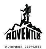 Vector Black Climber On A...