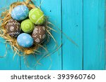 easter card. painted easter... | Shutterstock . vector #393960760