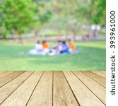 perspective wood with blurred... | Shutterstock . vector #393961000