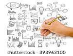 hand drawing doodle finance... | Shutterstock . vector #393963100