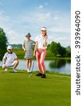kids playing golf | Shutterstock . vector #393964090
