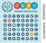 arrows icon set design clean...