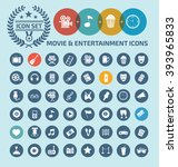 movie and entertainment icon... | Shutterstock .eps vector #393965833