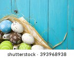 easter card. painted easter... | Shutterstock . vector #393968938